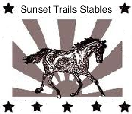 sunset trails logo with stars